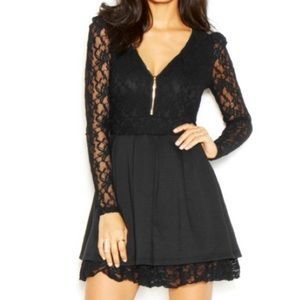 Guess sexy black sheer lace mini dress fit & flare